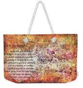 Romans 12 68 Weekender Tote Bag