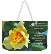 Romans Yellow Rose Weekender Tote Bag