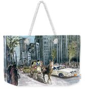 New York 5th Avenue Ride - Fine Art Weekender Tote Bag