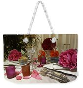 Romantic Dinner Setting Weekender Tote Bag