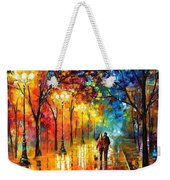 Romantic Stroll - Palette Knlfe Oil Painting On Canvas By Leonid Afremov Weekender Tote Bag