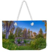 Romantic View By The Methow River Weekender Tote Bag