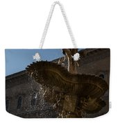 Rome's Fabulous Fountains - Piazza Farnese Fountain Weekender Tote Bag