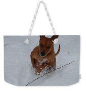 Romp In The Snow Weekender Tote Bag