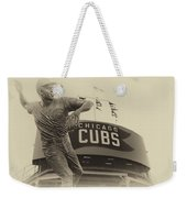 Ron Santo Chicago Cub Statue In Heirloom Finish Weekender Tote Bag