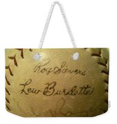 Ron Sievers And Lew Burdette Autograph Baseball Weekender Tote Bag