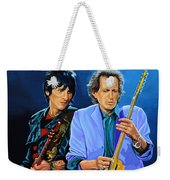 Ron Wood And Keith Richards Weekender Tote Bag