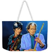 Ron Wood And Keith Richards Weekender Tote Bag