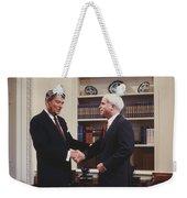 Ronald Reagan And John Mccain Weekender Tote Bag by Carol Highsmith