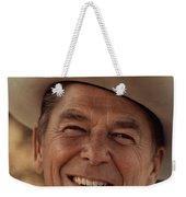 Ronald Reagan In 1976 At His Home At Rancho Del Cielo Weekender Tote Bag