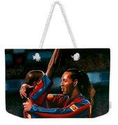Ronaldinho And Eto'o Weekender Tote Bag