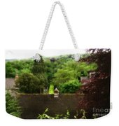 Roof Tops In Countryside Scenery With Trees - Peak District - England Weekender Tote Bag
