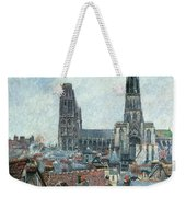 Roofs Of Old Rouen Grey Weather  Weekender Tote Bag
