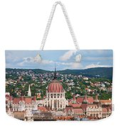 Rooftop Of Parliament Building In Budapest Weekender Tote Bag