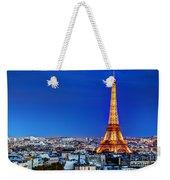 Rooftop View On The Eiffel Tower Weekender Tote Bag
