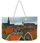Rooftops From Our Host's Apartment In Enkhuizen-netherlands Weekender Tote Bag