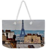 Rooftops Of Paris And Eiffel Tower Weekender Tote Bag
