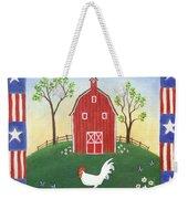 Rooster Americana Weekender Tote Bag