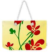 Rooster Flowers Weekender Tote Bag