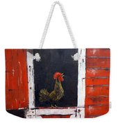 Rooster In Window Weekender Tote Bag