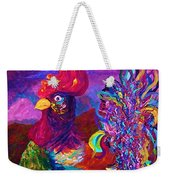 Rooster On The Horizon Weekender Tote Bag