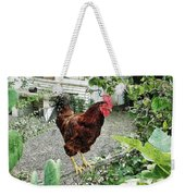 Rooster Perch Weekender Tote Bag