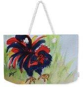 Rooster - Red And Black Rooster Weekender Tote Bag