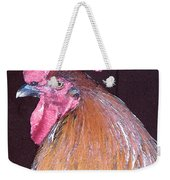 Rooster Watercolor Weekender Tote Bag