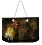 Rooster With Brush Calligraphy Loyalty Weekender Tote Bag