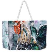 Rooster  Weekender Tote Bag by Zaira Dzhaubaeva