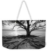 Roots Beach In Black And White Weekender Tote Bag