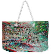 Roots - Use Red/cyan Filtered 3d Glasses Weekender Tote Bag