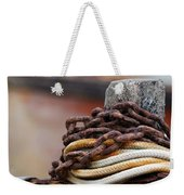 Rope And Chain Weekender Tote Bag