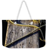 Rope And Wood Sidelight Textures Weekender Tote Bag