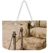 Rope And Wooden Fence Weekender Tote Bag