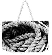 Rope Black And White Weekender Tote Bag