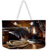 Rope In The Ranch Barn Weekender Tote Bag by Olivier Le Queinec