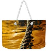 Rope On Liquid Gold Weekender Tote Bag