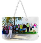 Rory Mcilroy - The Third Round Of The Omega Dubai Desert Classic Weekender Tote Bag