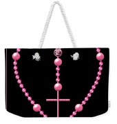 Rosary With Pink And Purple Beads Weekender Tote Bag