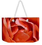 Rose Abstract Weekender Tote Bag by Rona Black