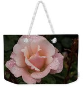 Rose And Rain - Pale Pink Raindrops Weekender Tote Bag