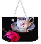 Rose And Tea Cup Weekender Tote Bag