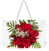 Rose Bouquet From Above Weekender Tote Bag