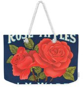 Rose Brad Apples Crate Label Weekender Tote Bag