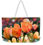 Rose Bunch Weekender Tote Bag by Rona Black
