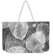 Rose Clippings Mural Wall 2 - Black And White Weekender Tote Bag