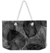 Rose Clippings Mural Wall - Black And White Weekender Tote Bag