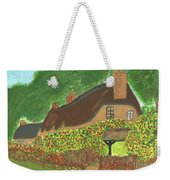 Rose Cottage Weekender Tote Bag