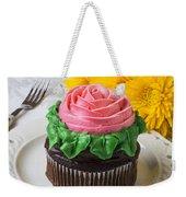 Rose Cupcake Weekender Tote Bag